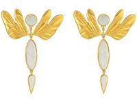 Tory Burch Dragonfly Earrings Mother Of Pearl Vintage Gold Earring