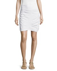 Xcvi Trace Ruched Mini Skirt White