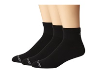 Drymax Sport Thin Run 1 4 Crew 3 Pair Pack Black Crew Cut Socks Shoes