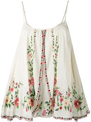 Mes Demoiselles Embroidered Cami Women Cotton 36 Nude Neutrals
