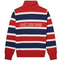 Aime Leon Dore Knitted Turtleneck Sweat Red