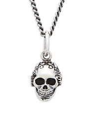 King Baby Studio Victorian Gear Skull Pendant Necklace Silver