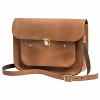 N'damus London Vintage Tan 13 Inches Pocket Satchel Brown