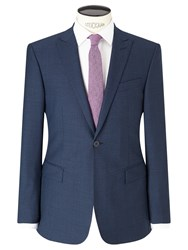 Richard James Mayfair Puppytooth Slim Suit Jacket Blue