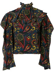 J.W.Anderson Jw Anderson Abstract Print Blouse Green