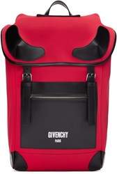 Givenchy Red Neoprene Rider Backpack