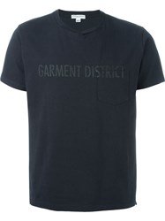 Engineered Garments Garment District Print T Shirt Blue