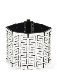 So Le Leather Cuff W Snap Silver