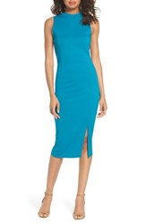 Felicity And Coco Mock Neck Sheath Dress Tahitian Tide