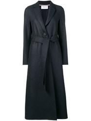 Harris Wharf London Belted Trench Coat Blue