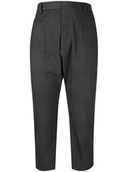 R 13 R13 Tailored Dropped Crotch Trousers Grey