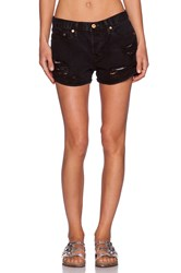 Nsf Kit Distressed Short Black Out