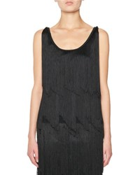 Tom Ford Tiered Fringe Scoop Neck Tank Top Pink