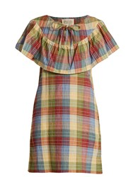 Ace And Jig Clifton Checked Cotton Blend Dress Multi