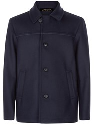 Jaeger Wool Blend Donkey Jacket Navy