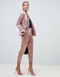 Little Mistress Cigarette Trouser With Contrast Piping In Copper