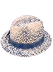 Le Chapeau Stained Effect Woven Hat Women Cotton Paper Acrylic Acetate One Size Nude Neutrals