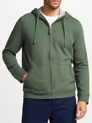 John Lewis Cotton Pigment Dyed Hoodie Green