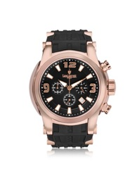 Lancaster Bongo Chrono Stainless Steel Men's Watch W Rubber Strap