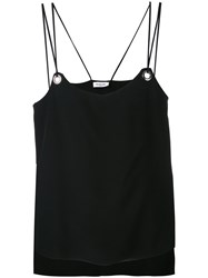 Thierry Mugler Eyelet Detail Vest Women Silk 38 Black