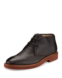 Ermenegildo Zegna Triverio Deerskin Leather Chukka Boot Brown