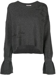 Cinq A Sept Embroidered Josephine Jumper Grey