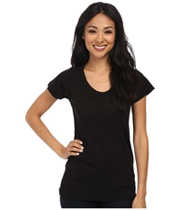 Lna S S Crew Black Women's Short Sleeve Pullover