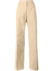 Dries Van Noten Panter High Waisted Trousers Nude And Neutrals