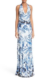 Roberto Cavalli Women's Jersey Maxi Halter Dress