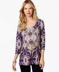 Miraclesuit Shaping Graphic Print Top Mosaic Purple