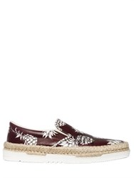 Valentino Pineapple Leather Espadrille Sneakers