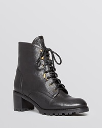 Joie Lace Up Combat Booties Asbury Black