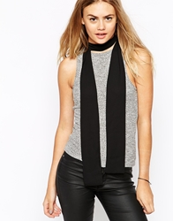 Asos Long Skinny Scarf In Black