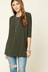 Forever 21 Dolman Sleeve Knit Top Charcoal