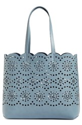 Chelsea 28 Chelsea28 Lily Scallop Faux Leather Tote Blue Blue Stone