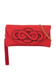 Shanghai Tang Braided Knot Clutch Red