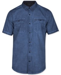 Hurley Men's Redford Woven Shirt Squadron Blue