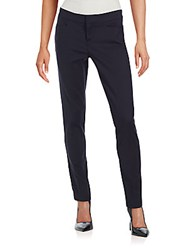 Saks Fifth Avenue Black Solid Slim Fit Pants Black