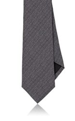 Ralph Lauren Black Label Men's Micro Checked Necktie Grey