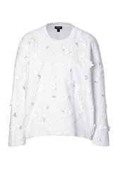 Giambattista Valli Cotton Blend Sweatshirt With Applique