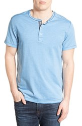 Men's Jeremiah 'Abel' Short Sleeve Slub Cotton Henley Voyage