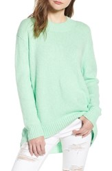 Leith High Low Sweater Green Ash