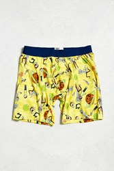 Urban Outfitters Rick And Morty Boxer Brief Yellow