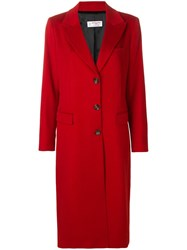 Alberto Biani Single Breasted Buttoned Coat Red