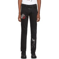 Off White Black Undercover Edition Cutted Slim 5 Pocket Jeans