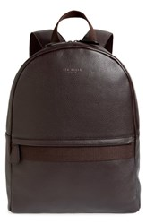 Ted Baker London Leather Backpack Brown Chocolate