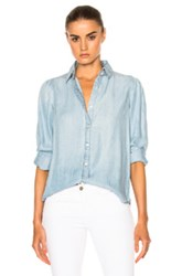 Frame Denim Feminine Top In Blue
