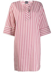 Lorena Antoniazzi Short Striped Dress Pink