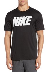 Nike Men's 'Legend' Mesh Graphic Training T Shirt Black White