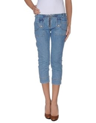 Germano Zama Denim Capris Blue